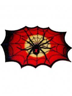 Aufnäher Spinne mit Netz