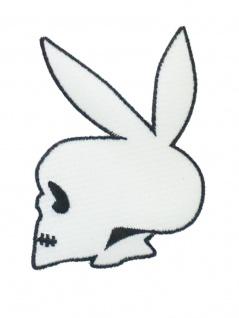 Aufbügler Play Skull weiß