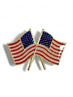 Anstecker Doppel Fahne USA