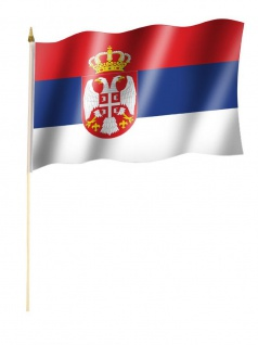 Stockfahne Serbien Wappen