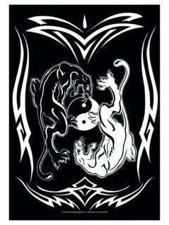 Yin Yang Posterfahne Panthers