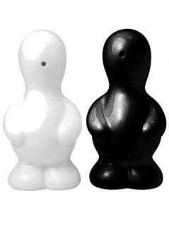 Salz und Pfefferstreuer Set Zwilling schwarz weiß