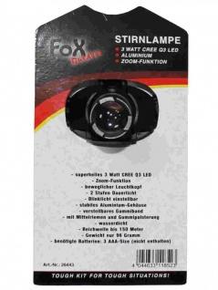 Stirnlampe 3 Watt LED und Zoom - Vorschau 2