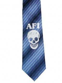 Krawatte AFI blau gestreift gebunden