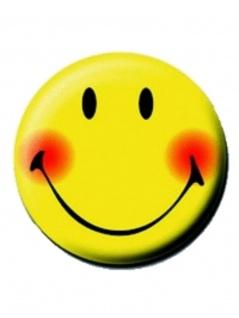2 Button Smiley gelb