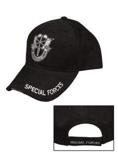 Baseball Cap Special Forces Schwarz - Vorschau 3
