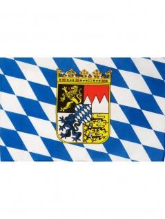 Fahne Bayern mit Wappen und Rauten