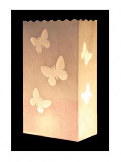 Kerzen Lichttüte große Schmetterlinge - Vorschau