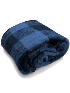 Buffalo Decke gewebt blau