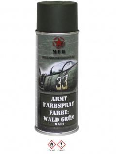 Militär Lack Spraydose Wald grün matt