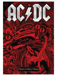 ACDC Poster Fahne Rock n Roll Train