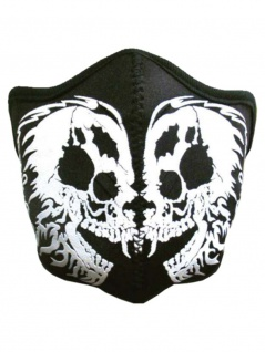 Motorrad Biker Maske Skull schwarz wei?