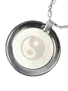 Edelstahl Halskette Yin Yang