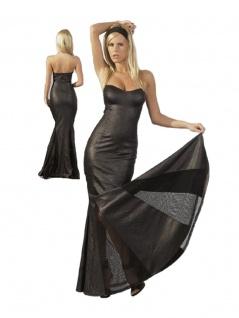 Langes Kleid mit abnehmbarem Neckholder
