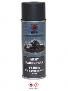 Militär Lack Spraydose WH Panzergrau matt