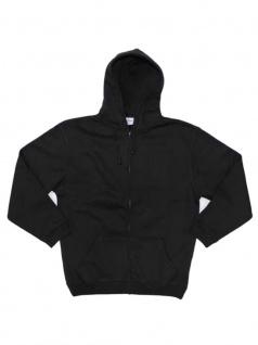Kapuzenjacke Sweatshirt Longsleeve schwarz - Vorschau 2