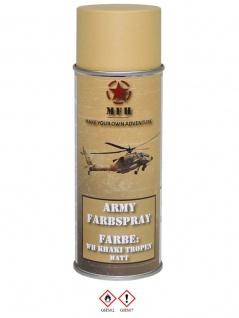 Militär Lack Spraydose WH khaki Tropen matt