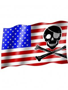 Fahne USA Pirat