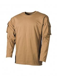 US Army Longsleeve Shirt coyote mit Ärmeltaschen