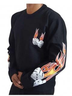 Sweatshirt brennende Würfel
