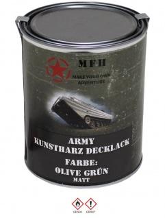 Militär Farbdose Army 1 Liter oliv grün