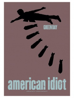 Green Day Poster Fahne American Idiot
