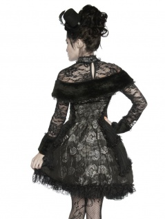 Extravagantes Vampir Kostüm schwarz grau - Vorschau 2