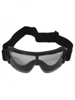 Schutzbrille Airsoft schwarz mit 2 Ersatzgläser