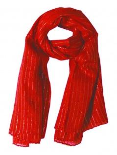Lurex Tuch rot und silber