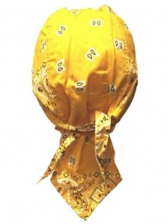 Bandana Cap Old School gelb weiß