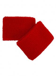 Schweißbänder rot