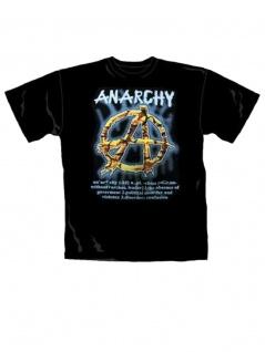 T-Shirt Anarchy schwarz