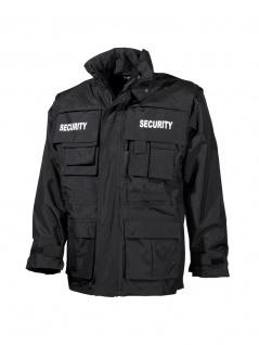 Jacke wasserdicht Security schwarz