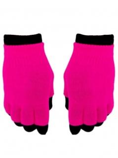 Multi Handschuhe neon pink 2 in 1