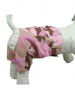Hunde Jeans Hose Camouflage pink