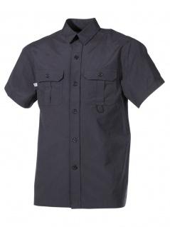 Kurzarm Outdoor Hemd schwarz