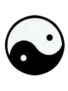 Aufnäher Yin Yang groß