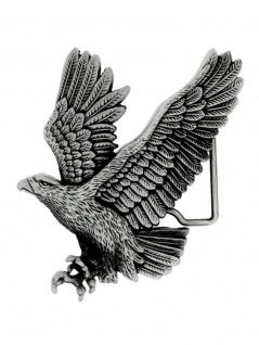 Gürtelschnalle landender Adler