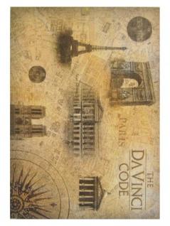 3 The Da Vinci Code Paris Postkarten