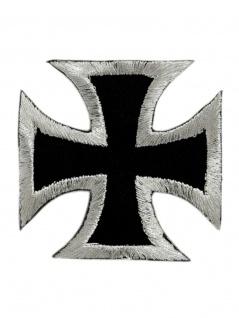 Aufnäher Eisernes Kreuz silber schwarz