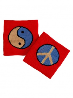 Schweißband Yin Yang rot