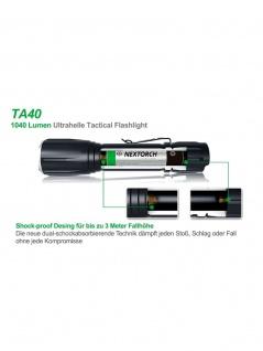 Taktisches Jagdset TA40 Set 1040 Lumen LED Taschenlampe - Vorschau 4