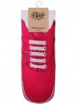 Sneaker Socken bedruckt Schuh rot