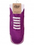 Sneaker Socken bedruckt Schuh lila