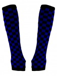 Armstulpen schwarz blau Schachbrett