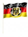 Stockfahne Deutschland Fußball