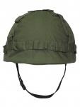 US Helm mit Stoffbezug oliv