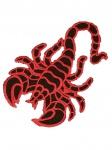 Aufnäher Skorpion rot