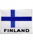 Aufnäher Finnland Text