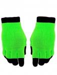 Multi Handschuhe neon grün 2 in 1